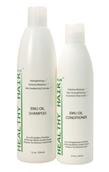 Emu Oil Shampoo & Conditioner for dry hair!