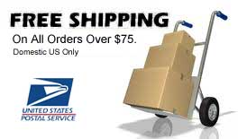 Free Shipping on Orders over $75 - Domestic USA