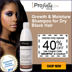 Growth and Moisture shampoo for dry black hair