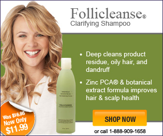 Follicleanse with zinc for oily hair