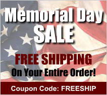 Memorial Day Sale - Free Shipping! Use coupon code FREESHIP at checkout