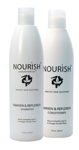 Awaken & Replenish shampoo and conditioner for thinning hair