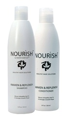 Shampoo and conditioner for thin or thinning hair
