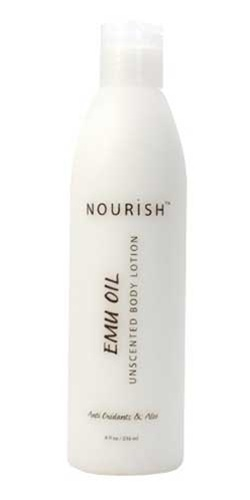 Nourish Emu Oil lotion for dry skin